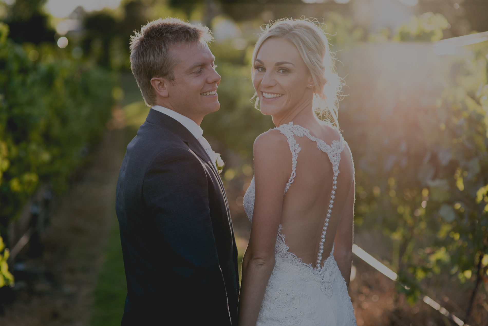 Wedding Slide – couple in vineyard