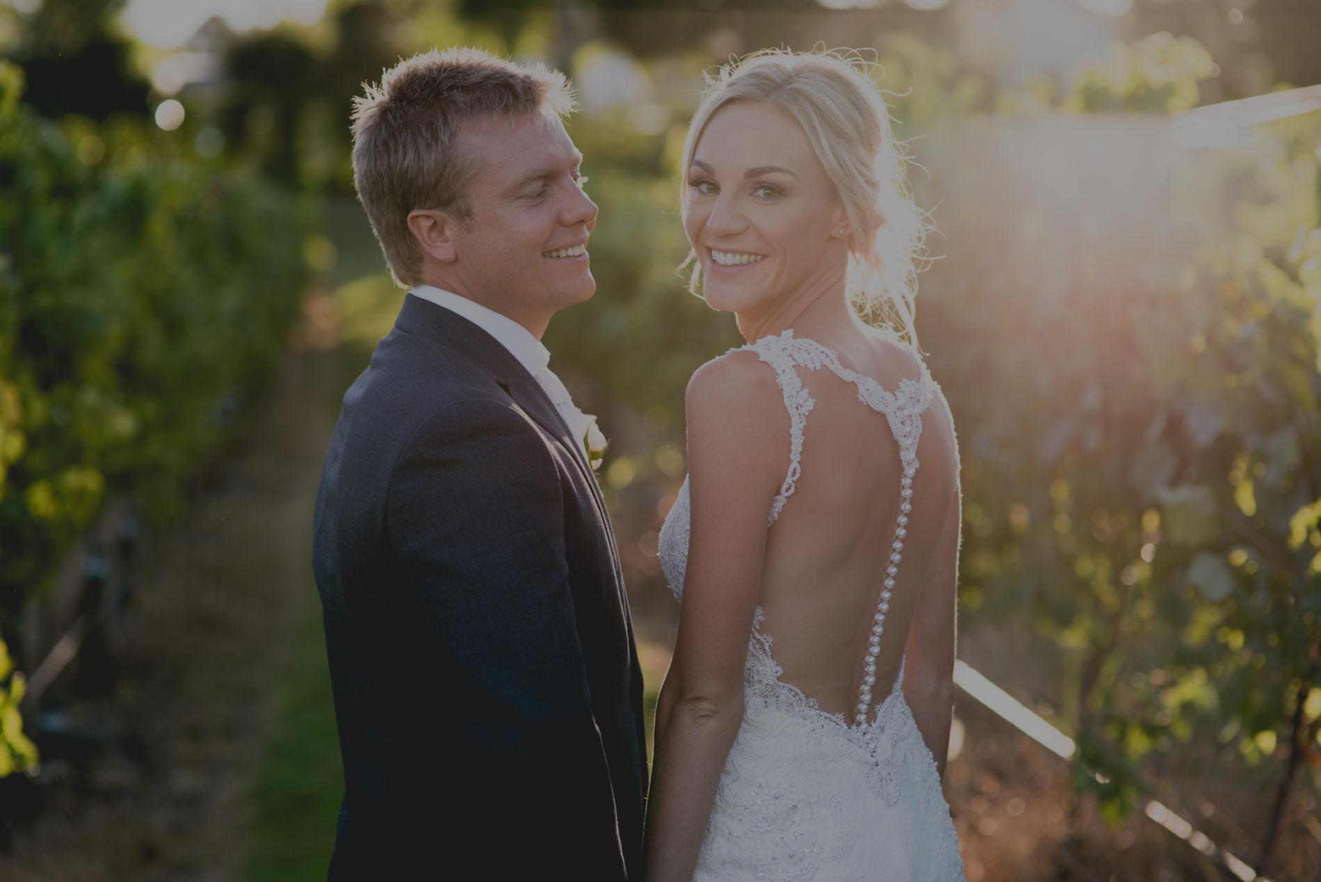 Wedding Slide – couple in vineyard