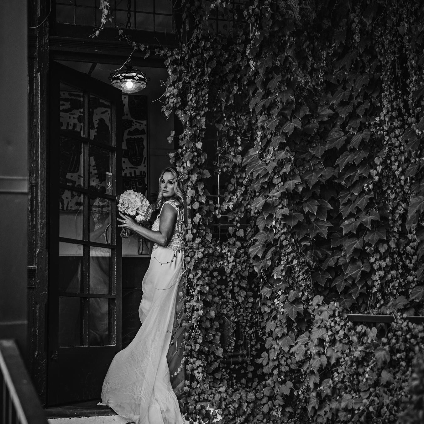 Wedding – Kelly champion b&w